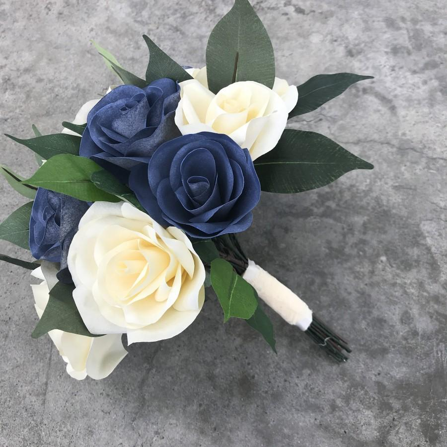 Wedding - Bridal bouquet using paper filter flowers - Customizable colors