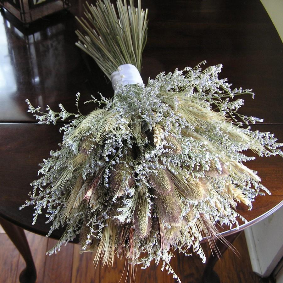 Mariage - Dried Flower Bridal Bouquet, Wedding dried Bouquet, Bridal Flowers, Rustic Flower Bouquet, Wedding Flowers, Summer Country Bouquet, Flowers