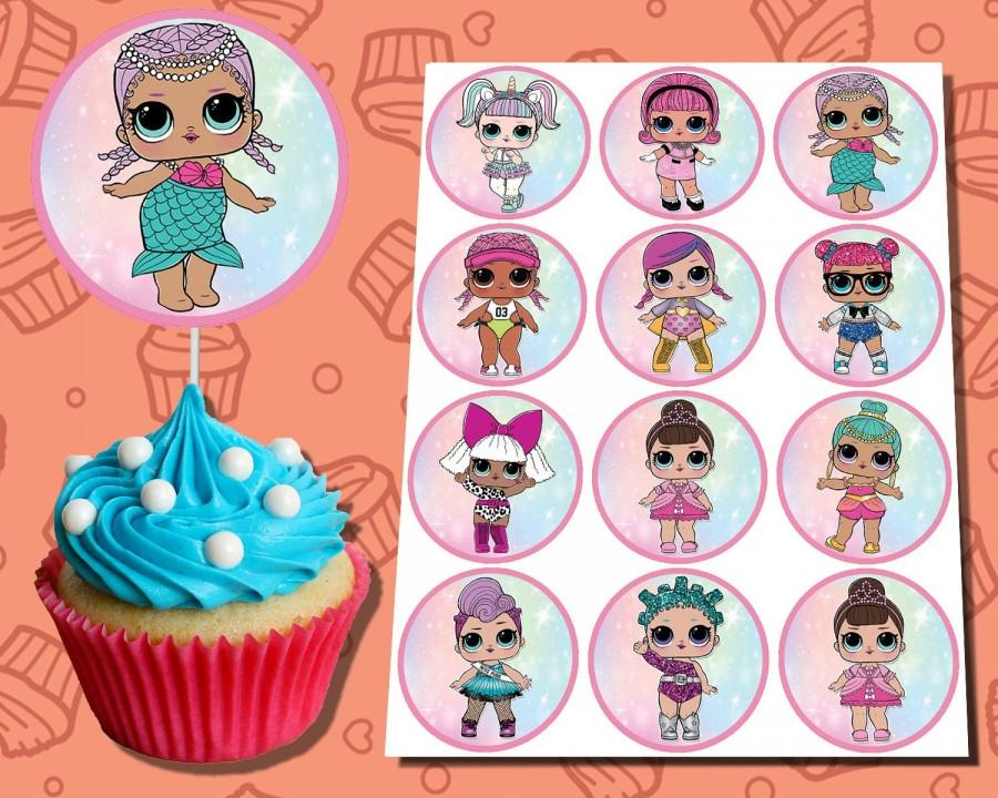 Свадьба - SWEET cupcake topper, birthday topper, party supplies.