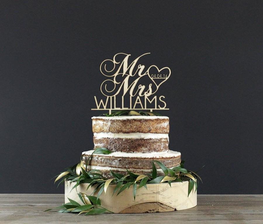 Mariage - Personalized Wedding Cake Topper - Cake Decor - Wood Cake Topper - Wedding Decoration