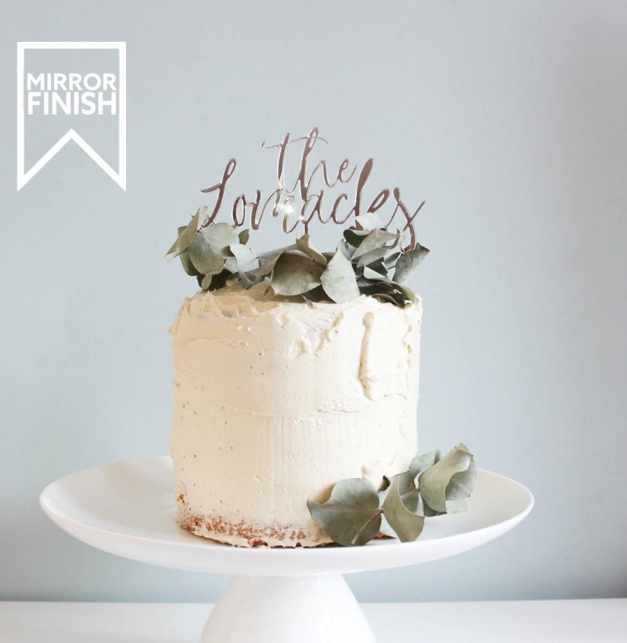 Mariage - Surname Wedding Cake Topper Wedding Cake Toppers Cake Topper Wedding Custom Cake Topper Gold Cake Topper Name Cake Topper Silver Cake Topper