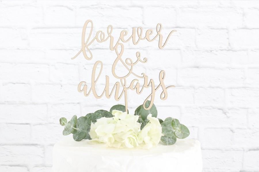 Hochzeit - Forever and Always Wedding Cake Topper, Forever Always Cake Topper, Wedding Cake Topper, Rustic Cake Topper, Cake Topper, DIY Cake Topper