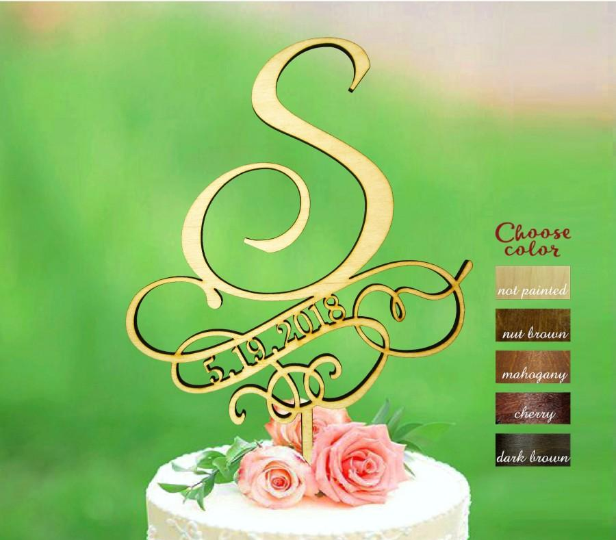 Свадьба - s cake topper, wedding cake topper, cake toppers for wedding, rustic cake topper, date cake topper, monogram cake topper, initial, CT#367
