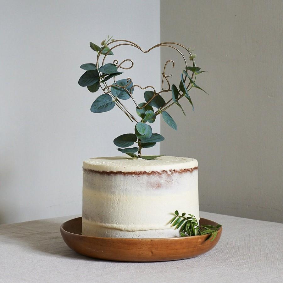 Hochzeit - Eucalyptus Wire Wedding Cake Topper