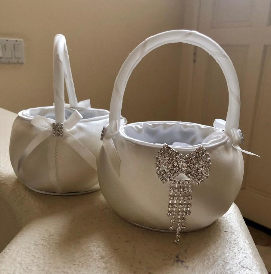 Mariage - Flower Girl Basket White