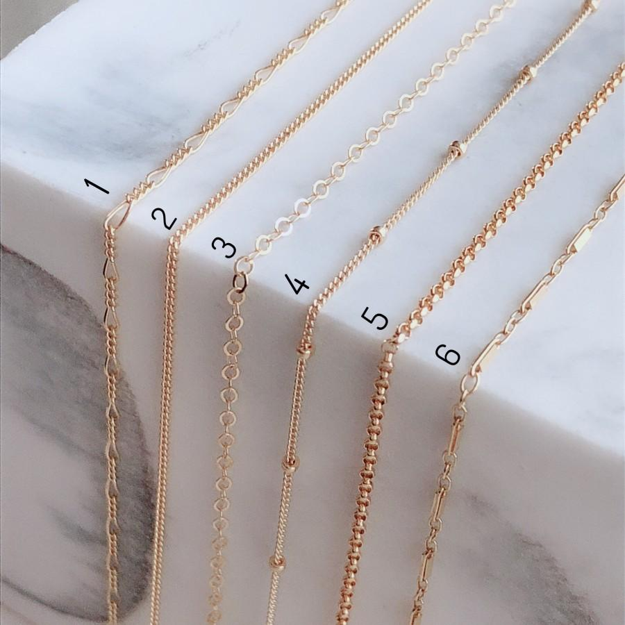Wedding - Dainty Beaded Satellite Chain - Simple Necklace - Gold bead Necklace - Layering Necklace - Bridesmaids gifts