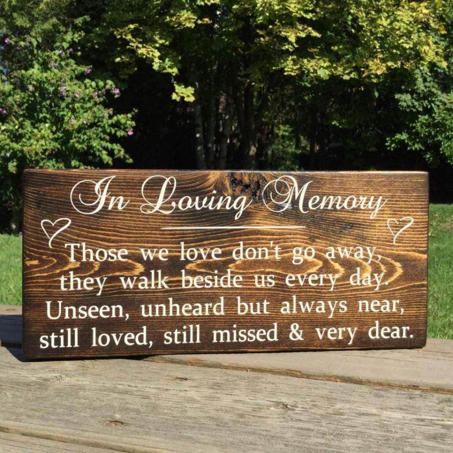 زفاف - In Loving Memory Wedding Sign- In Loving Memory,Memorial Sign,Wedding Memorial,Memorial Plaque,Wedding Memorial Sign,Wooden Memorial Sign