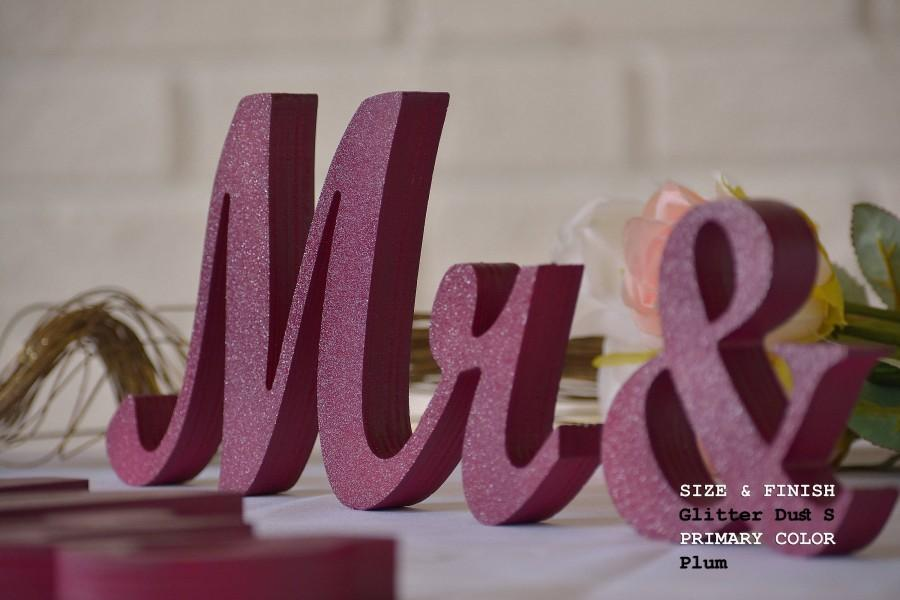 Wedding - wedding sign plum mr & mrs, mr and mrs sign, mr and mrs wall decor, mr and mrs table sign, mr and mrs wedding gift