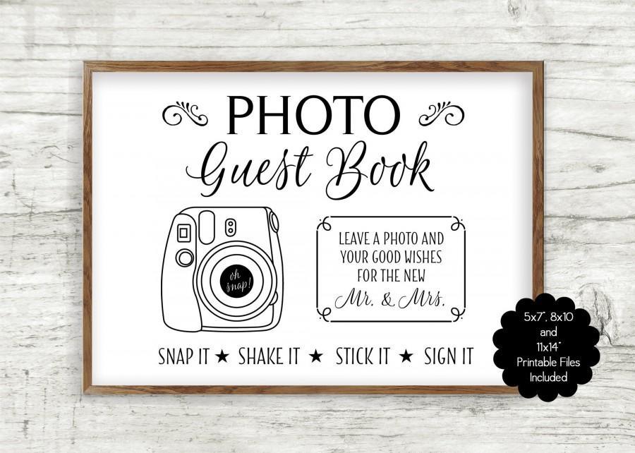 زفاف - INSTANT DOWNLOAD Printable Photo Guest Book