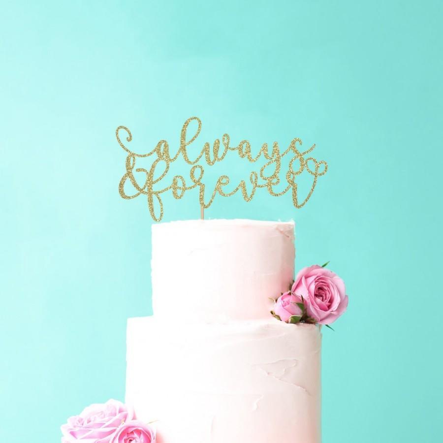زفاف - Always & Forever Wedding Cake Topper