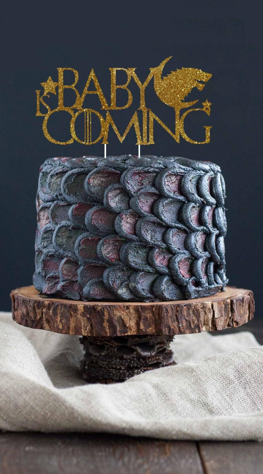 Baby Is Coming Stark Game Of Thrones Baby Shower Cake Topper Gender Reveal Cake Topper Game Of Thrones 2925709 Weddbook