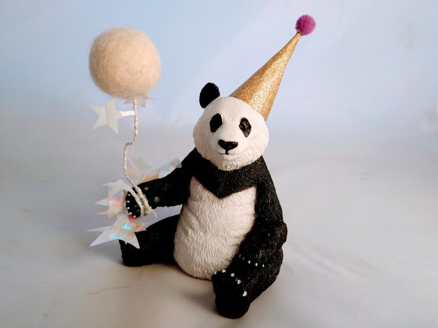 Mariage - Panda party animal, animal cake topper, cake decoration, party supplies, child's birthday.