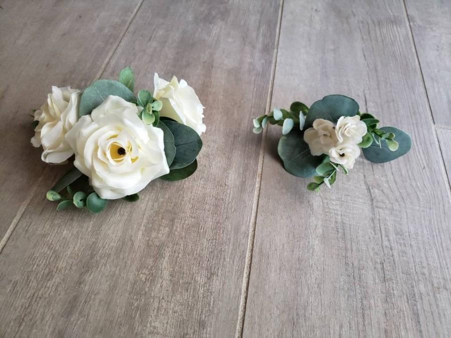 Mariage - Eucalyptus Floral Wedding Cake Topper Cake Decor Balloon Decor Roses