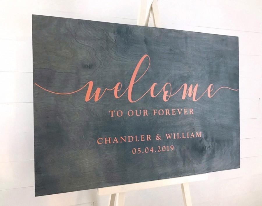 Wedding - Wedding Welcome Sign, Personalized Welcome Wedding Signage, Wood Wedding Decor, Custom Wedding Sign, Wedding Reception Sign