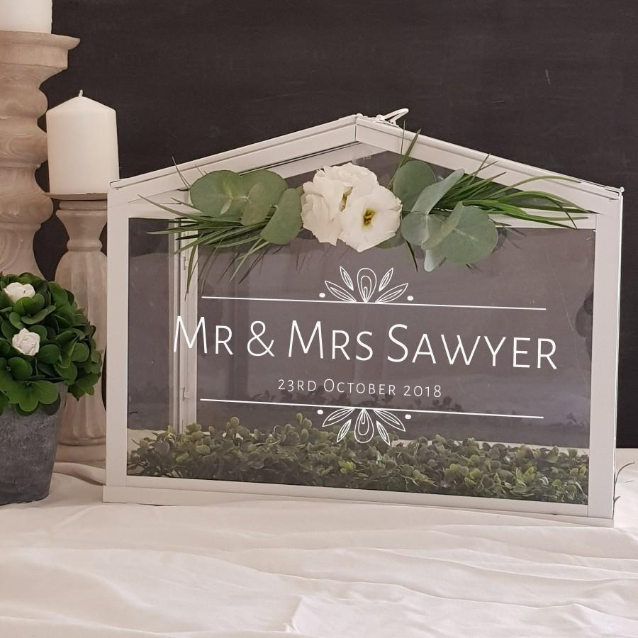 Wedding - Wishing Well or Card Box Personalized Decal ONLY - Wedding signs