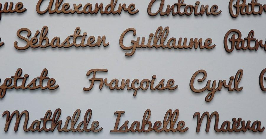 Wedding - Names in exotic wood, table names, room decoration for wedding and reception signs... (Fred font)