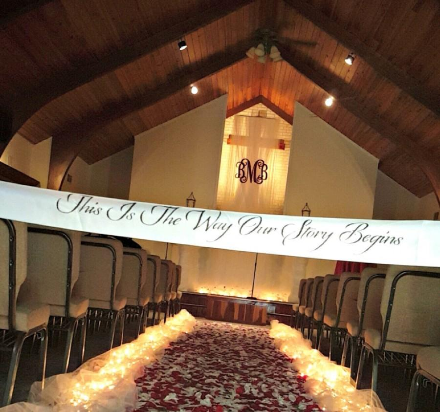 Mariage - This Is The Way Our Story Begins, wedding aisle decor, wedding decor, wedding aisle, wedding sign,aisle blocker, customized wedding banner