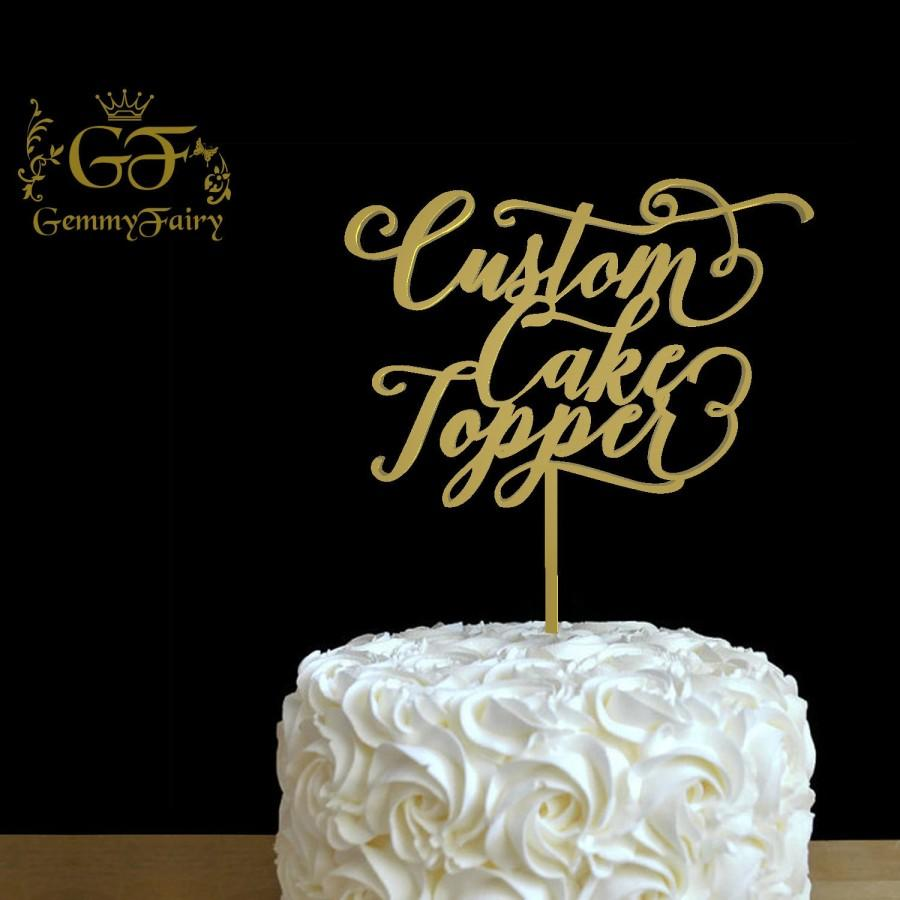 Свадьба - Custom Wood Topper, Personalized Wedding Cake Topper, Script font, Cake Decor, Wood Cake Topper, Wedding Decoration
