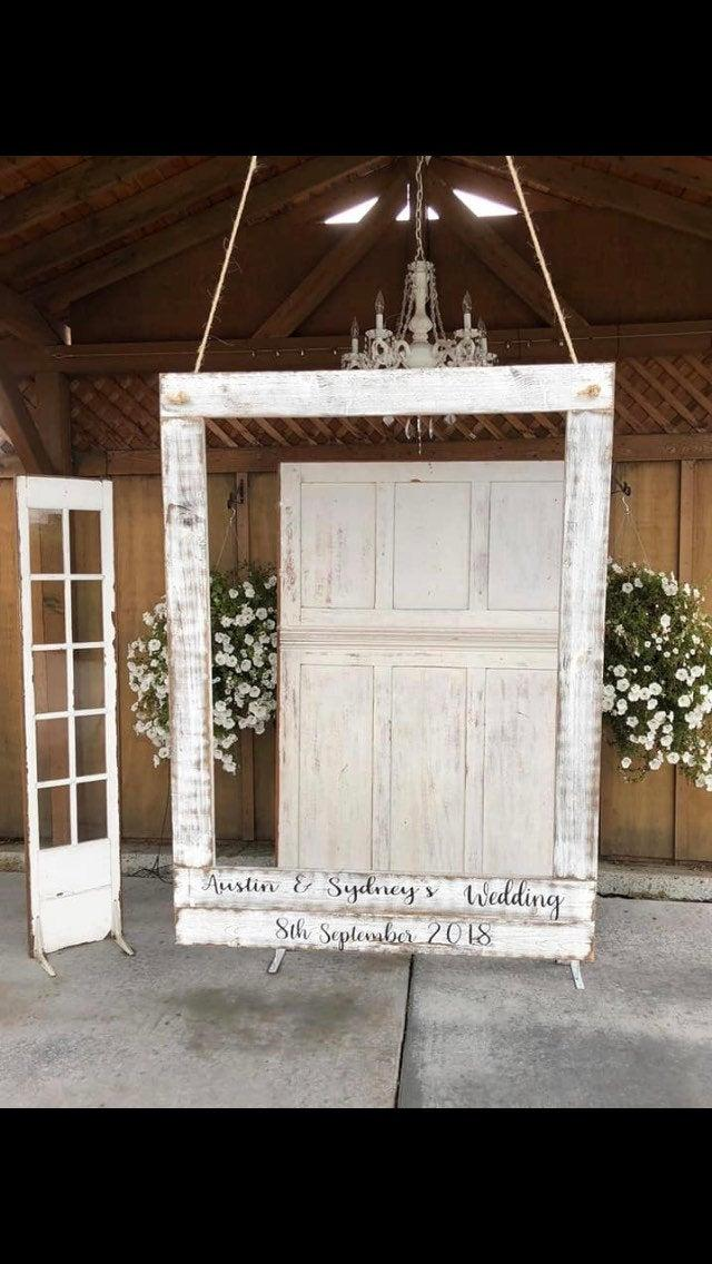 Hochzeit - WEDDING PHOTO BOOTH Frame/Personalized for your wedding or any other special event/rustic look frame/selfie wedding prop/wedding photo prop/