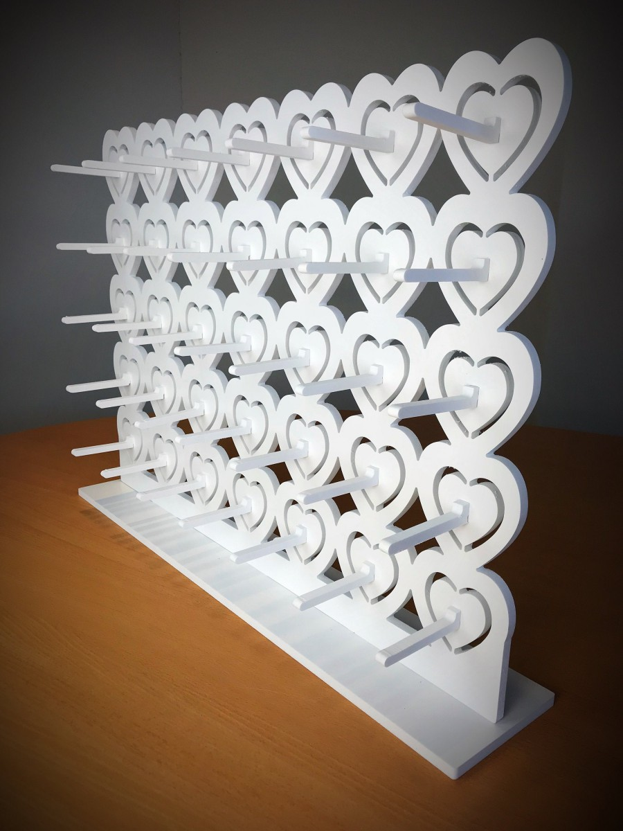 Hochzeit - Donut Wall Doughnut Wall White. Candy Cart. Various Sizes & Prices. Holds 9-126 Donuts