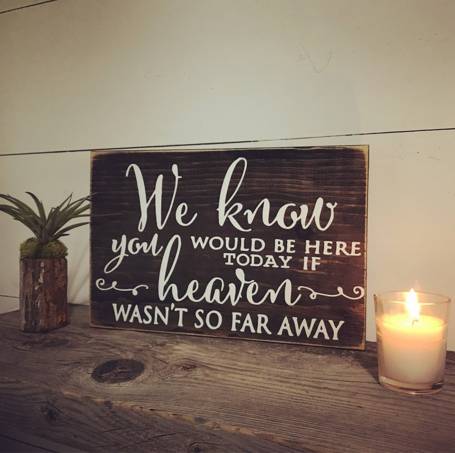 Hochzeit - Memorial Sign- In Loving Memory Heaven Sign -
