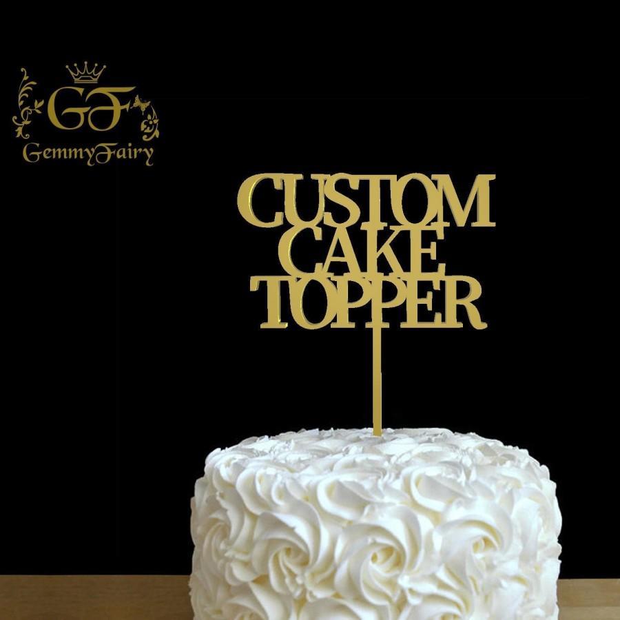 Свадьба - Custom Wood Topper, Personalized Wedding Cake Topper, Cake Decor, Wood Cake Topper, Wedding Decoration