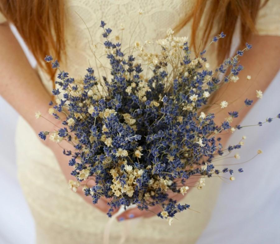 Свадьба - Lavender Bridesmaids Bouquets - Dried, Beautiful & Fragrant