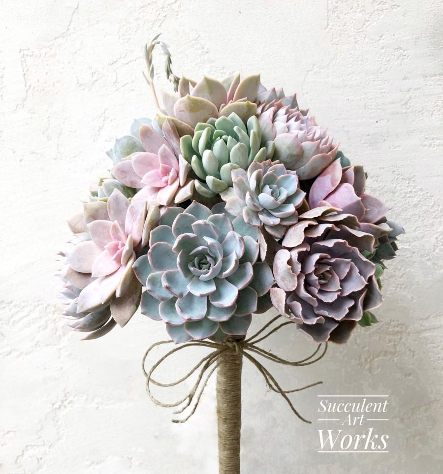 Свадьба - Succulent Wedding Bouquet, Customized Wedding Bouquet, Bridal Bouquet, Brides Bouquet, Wedding Succulents, wedding day Succulents