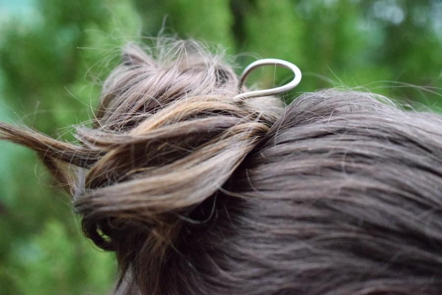Mariage - Curved german silver hair pin