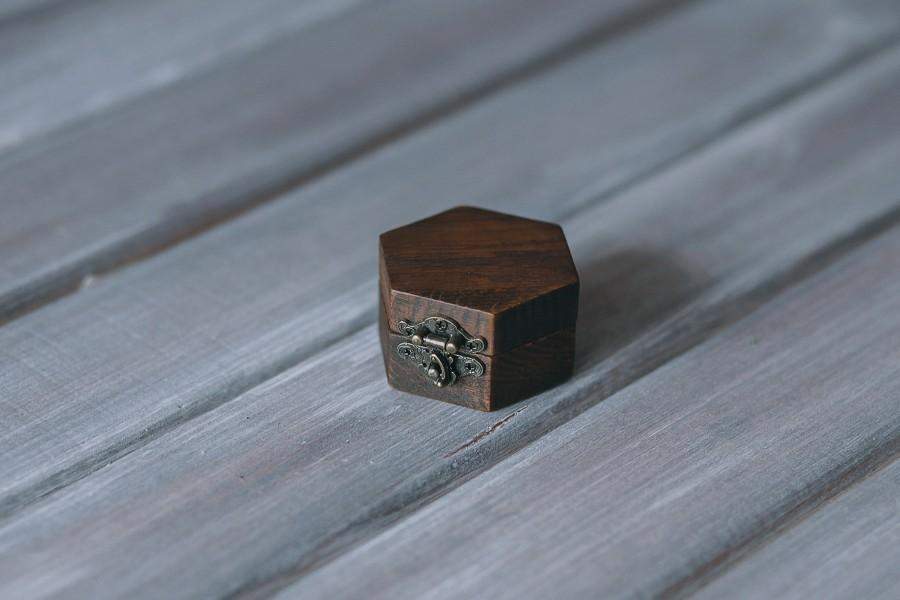 Mariage - Unique ring box Wedding box Rustic wedding box Moss ring box ring box wedding Proposal rustic box Personalized box Engagement ring box