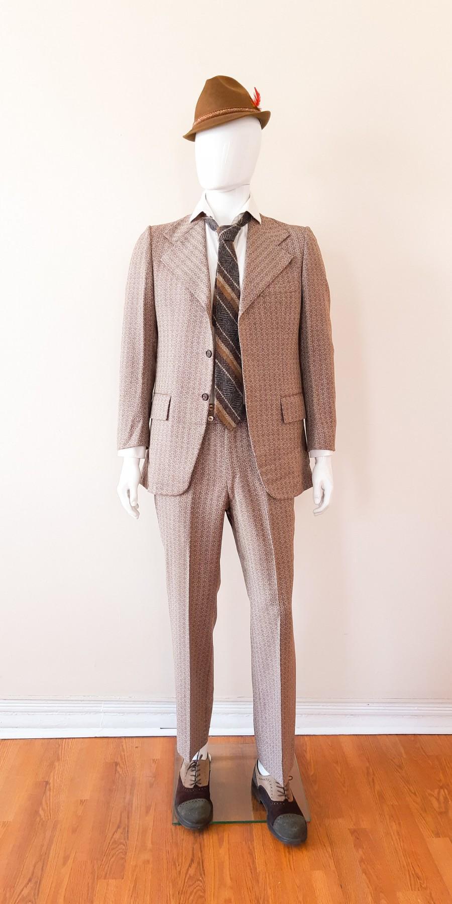 Свадьба - Cardin vintage men's silk suit, 1960s. Rare novelty pattern, mint condition 1960s suit for men size 41