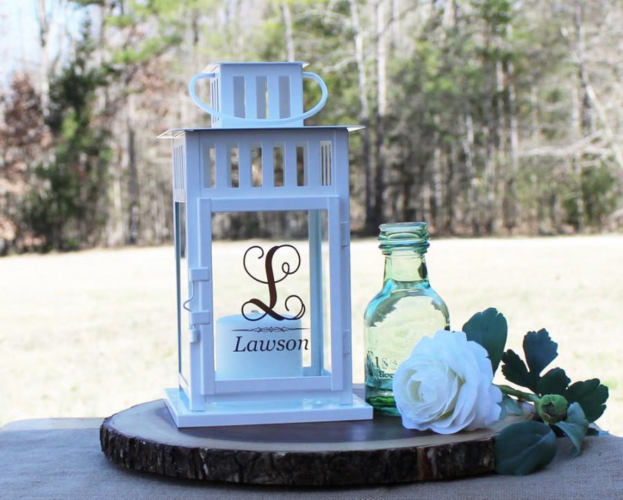 Свадьба - Personalized Lantern/ 4 Styles and 2 Colors to choose from / Wedding Lantern / Memory Lantern/ Wedding Centerpiece/ 2 Sizes