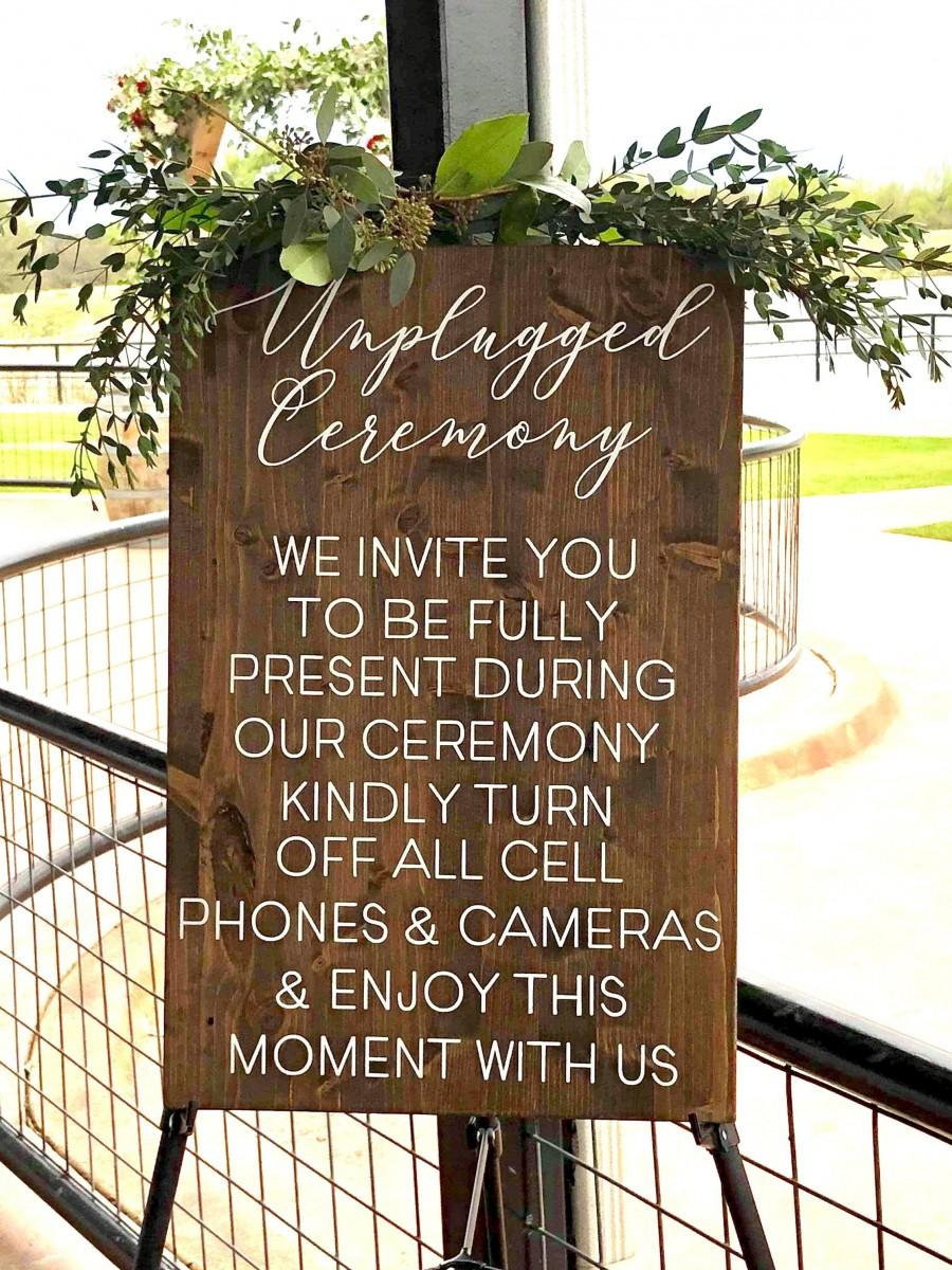 Свадьба - unplugged ceremony sign, unplugged wedding sign, vertical wooden wedding sign, rustic wedding decor, ceremony decor