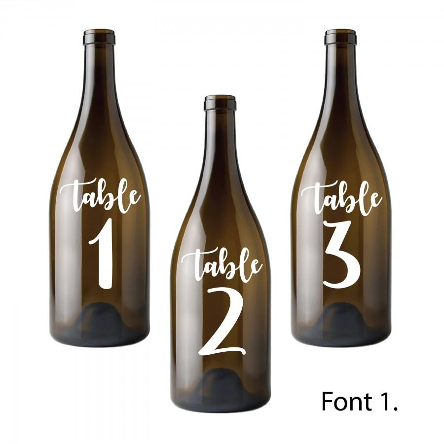 Свадьба - Table Number Decals // Wedding Party Signs // Easy Peel And Stick // Stickers For Any Flat Surface // For Glass, Bottles, Plastic, Metal