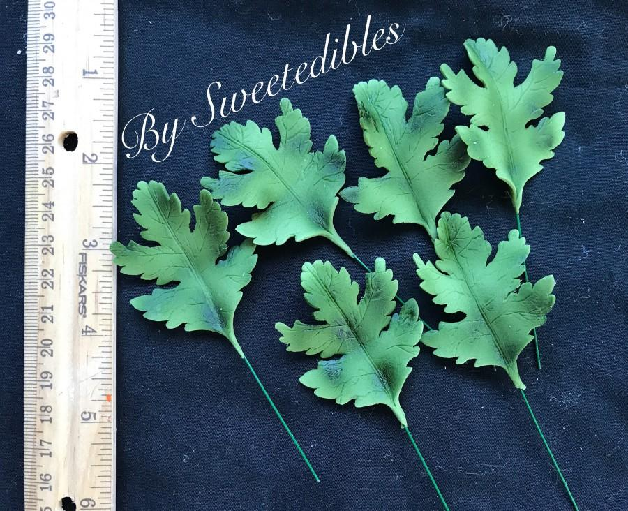 Mariage - Gumpaste leaves on wires cake decorations