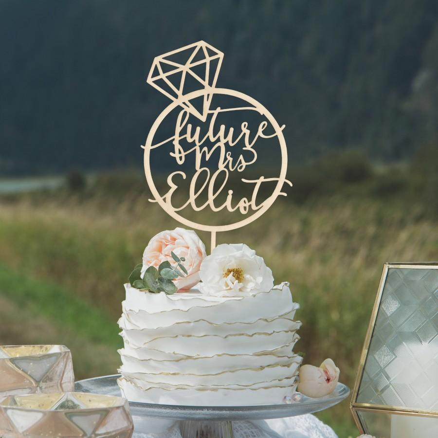 The Bride Cake topper Laser Cut Double Layer Acrylic Custom Party Decorations Bridal Shower Mirror