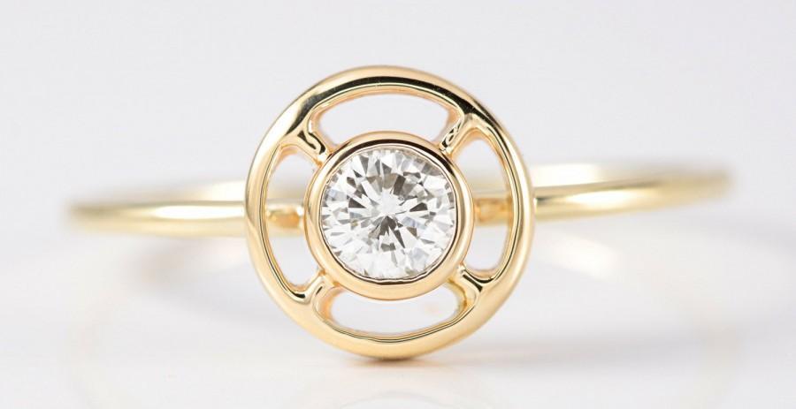 Mariage - Vintage diamond engagement ring .20 Stick pin conversion ring wedding ring diamond stacking ring