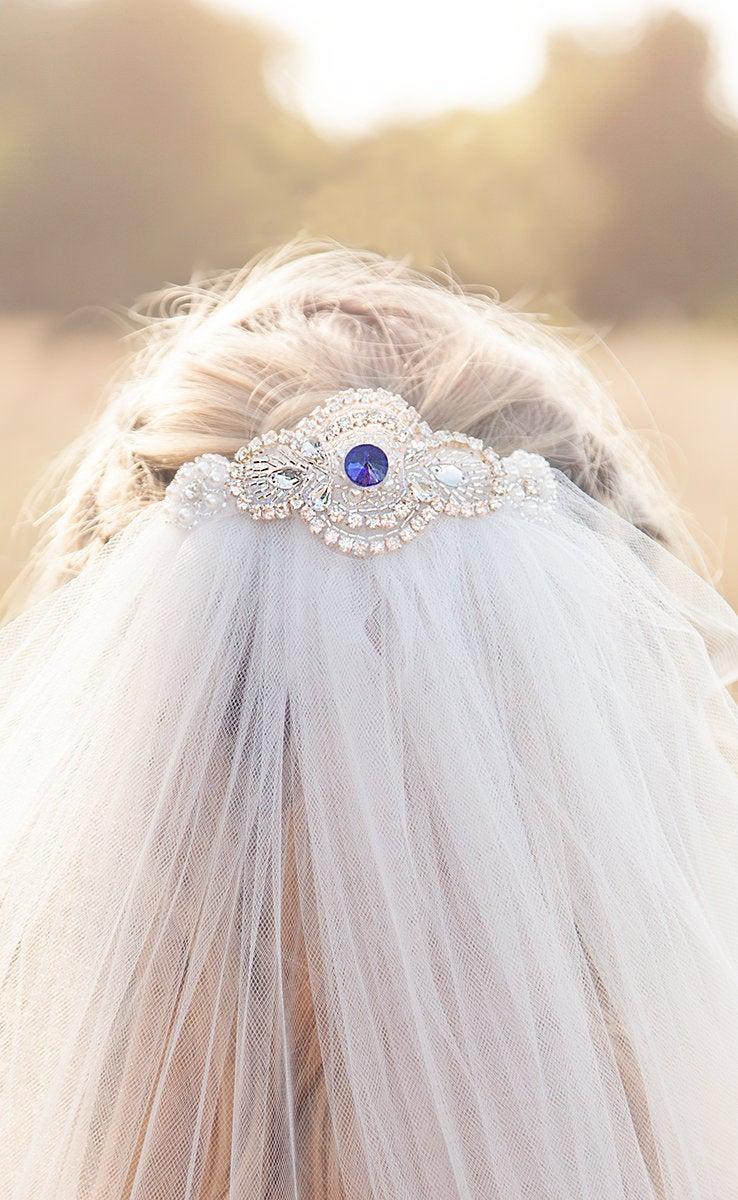 Свадьба - Sapphire Wedding Veil