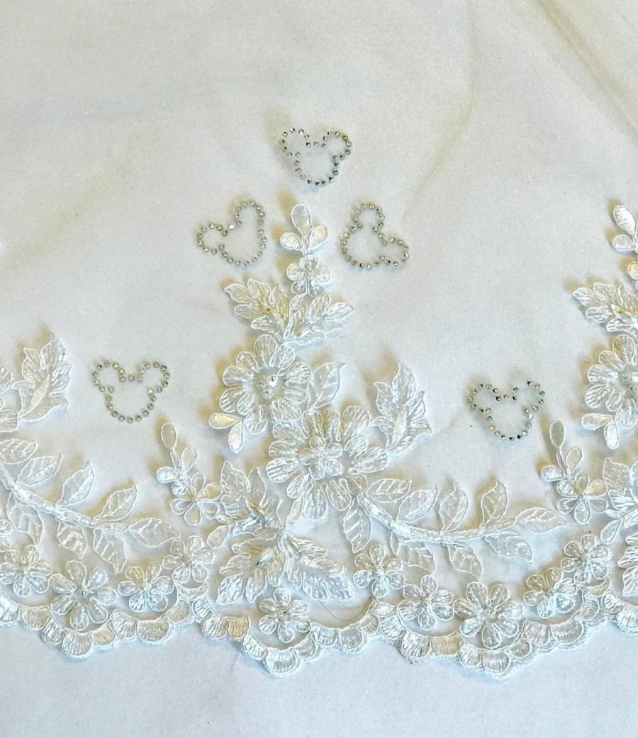 Свадьба - Crystal Mickeys, Disney Bridal Veil, Disney Wedding Veil, Mickey Mouse Veil, Veil Add-On, Customize Your Veil, Set of Rhinestone Mickeys