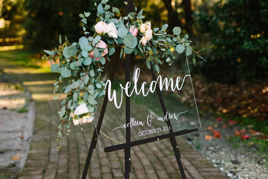 Hochzeit - Wedding Welcome Sign - Wedding Signs - Acrylic Wedding Sign - Lucite Wedding Sign - Wedding Signs - Acrylic - Acrylic Wedding Signs -c
