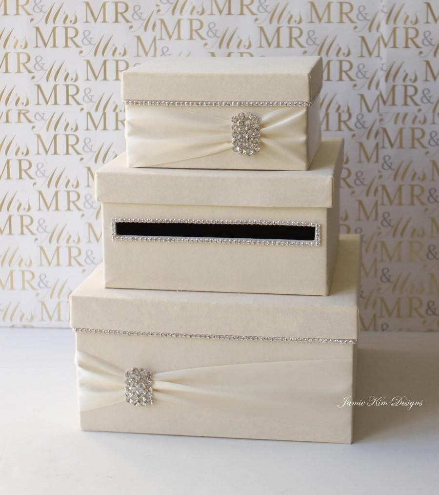 Свадьба - Wedding Card Box, Money Box, Wedding Gift Card Money Box  - Custom Made to Order