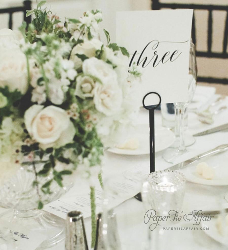 "Свадьба - Wedding Table Numbers - Table Number Cards - Wedding Decor - Table Numbers For Wedding - 5x7"" or 4x6"" Printed, Custom"