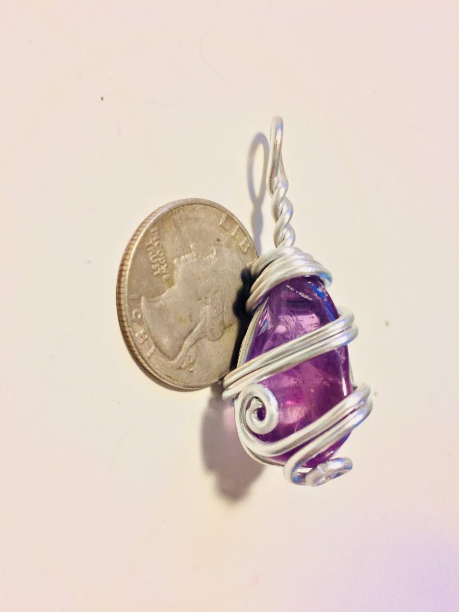 Mariage - Ametrine wire wrap, wire wrapped ametrine, ametrine pendant, ametrine necklace, ametrine jewelry, wire wrapped jewelry, wire wrapped crystal