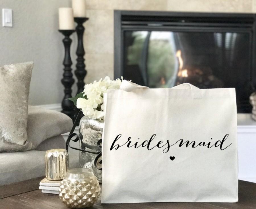 Свадьба - Bridesmaid Tote, Bridal Tote, Bridesmaid Gift, Bridal Party Totes, Bridesmaid Tote Bag, Wedding Bag, Bridal Tote, Bridesmaid Bag