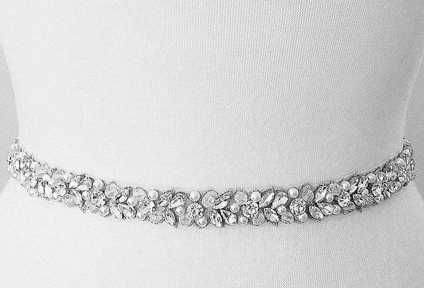 Свадьба - SALE - Wedding Belt, Bridal Belt, Sash Belt, Crystal Rhinestone & Off White Pearls  - Style B30886