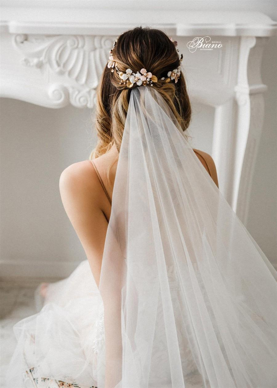 Свадьба - Wedding headband for bride, Wedding headpiece, Bridal halo, Bohemian headpiece, Wedding flower crown, Bridal circlet  -EMMA