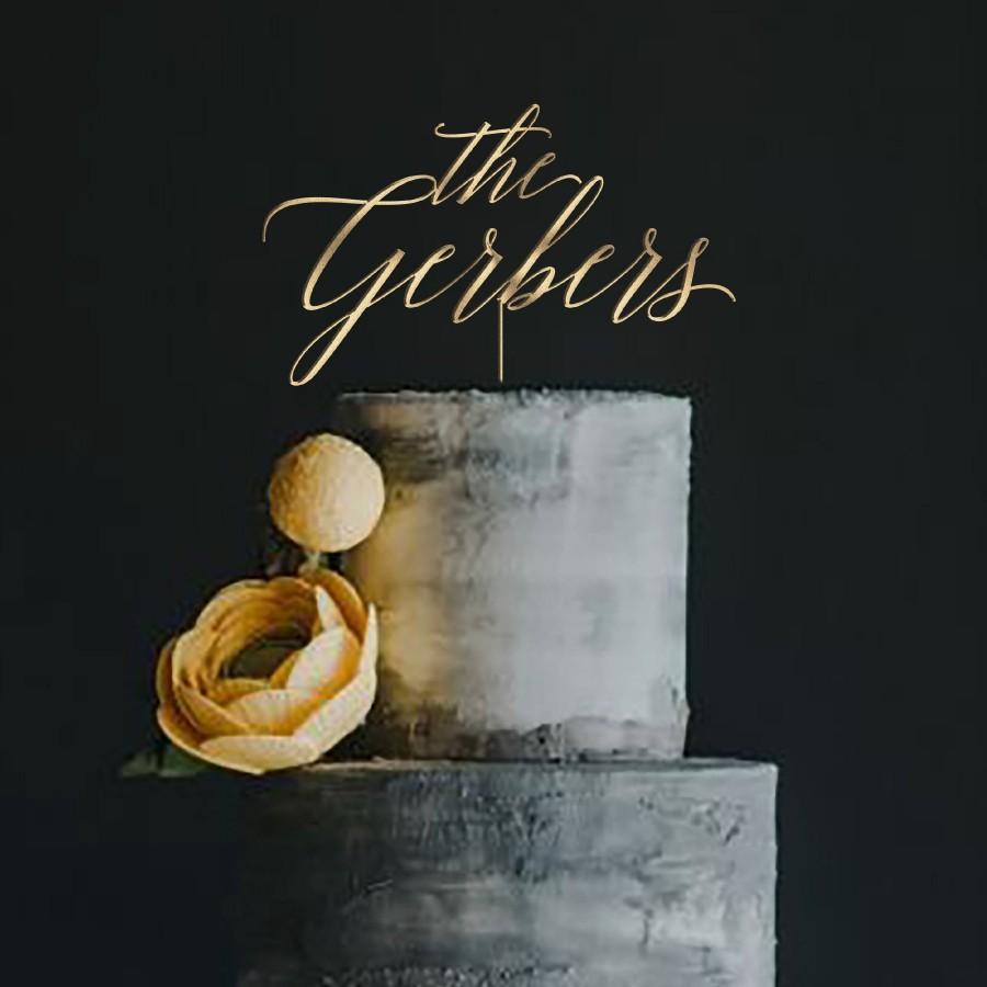 زفاف - Gold Wedding Cake Topper by Rawkrft - Gold, Silver, Rose Gold or Natural Wood - Customize Your Own - Designed and Made in Los Angeles