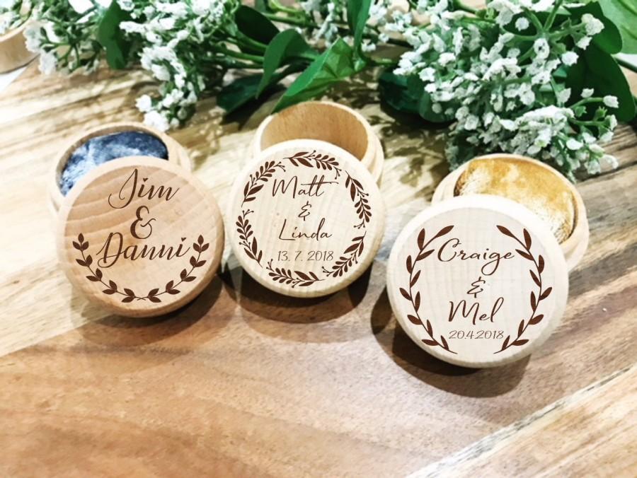 زفاف - Personalised Ring Box/Ring Box/ Ring Box Wedding/Engagement ring box/wedding ring box/Custom ring box/Engraved ring box/Ring Bearer Box/Ring