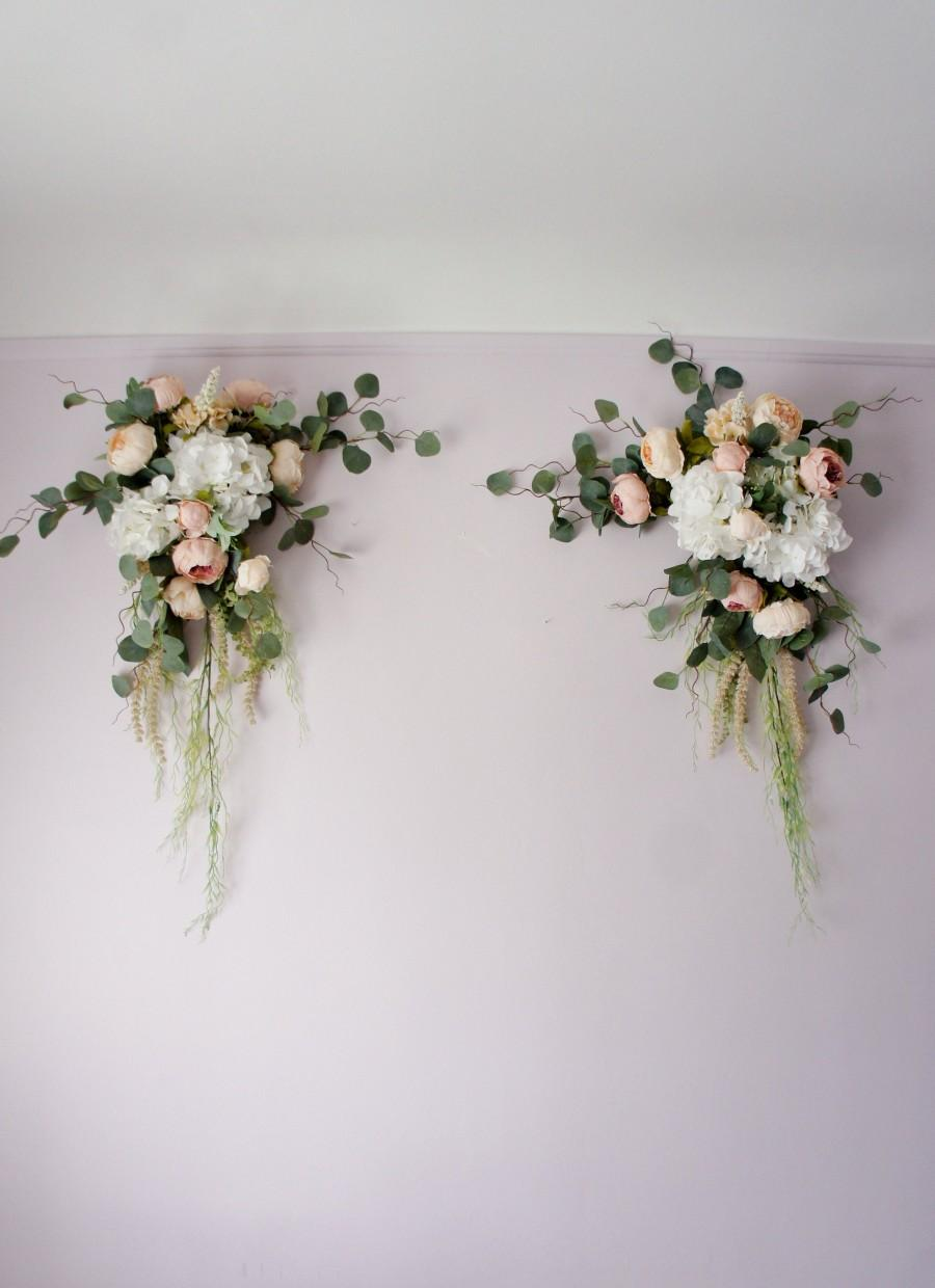 Wedding - Wedding Arch Swag, Swag, Boho Swag, Boho Wedding Arch Swag, Wedding Backdrop, Silk Arch Flowers, Church Swag, Corner Wedding Swag,