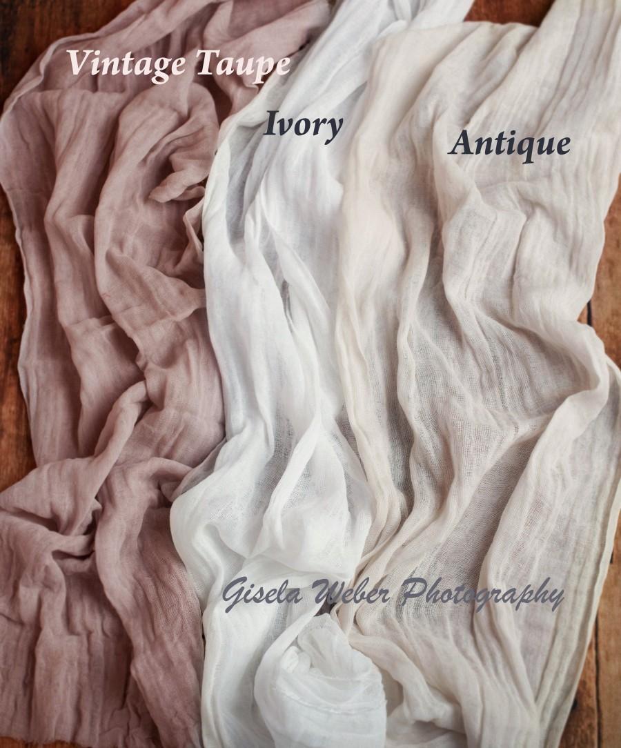 Свадьба - Gorgeous Hand Dyed Rustic Wedding Table Runner Gauze, Ivory Beach Wedding Arch Drape Fabric, Dusty Rose Wedding Table Runners, Dusty Blue